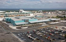 Aerial photo of Cruise Terminal 18 exterior