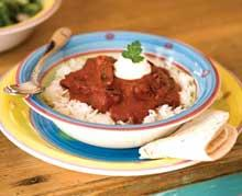 Lamb and rice dish