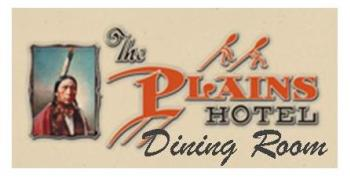 Plains Hotel Dining Room logo