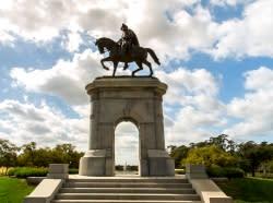 Statue in Hermann Park in Houston