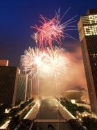 The stunning fireworks display at the Empire State Plaza in Albany