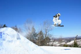 Snowboarder at Blue Mountain Ski Area