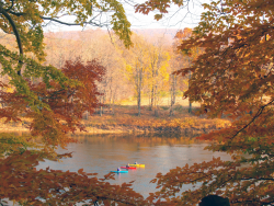 Fall Kayaking on the Delaware River