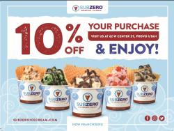 Sub Zero Ice Cream coupon