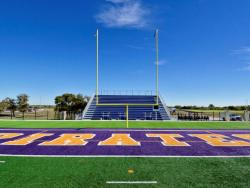 Football field endzone