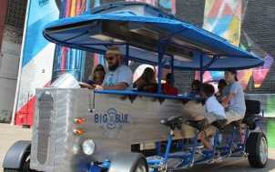 Big Blue Pedaler