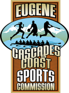 Eugene Cascades Coast-Sports Commission vertical logo