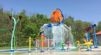 Williams Park has a great splash pad area!