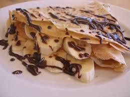 Chocolate and banana crepe from The Flat