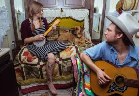 """Last Minute Folk at the Jayhawk presents singer songwriter duo """"The Rough and Tumble"""" in concert. Wichita fiddler Shawn Craver with Josh Luper will open the show."""