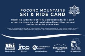 2016-17 Pocono Mountains Ski & Ride Card