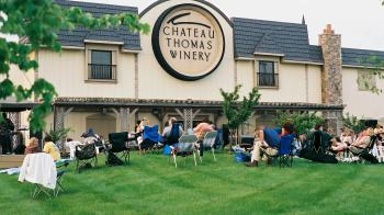 Chateau Thomas Winery in Plainfield is the place to be on Saturday evening for great music and even better wine.
