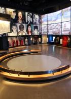 Video screens at the Canadian Museum for Human Rights