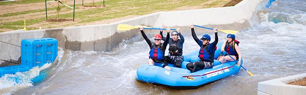 People Rafting Riversport Rapids