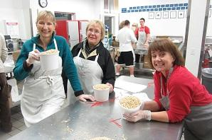 Some of the Travel Lane County staff lend a hand at Food for Lane County