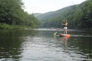 Paddle-boarding on the Youghiogheny