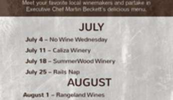 Wine Wednesday on the Patio with J Dusi Wines