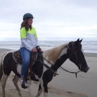 Riding Horses On The Beach, C&M Stables, by Sally McAleer