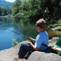 Fishing the McKenzie River by Elizabeth King