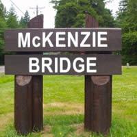 McKenzie Bridge Oregon Sign