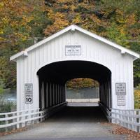 Goodpasture Covered Bridge by Natalie Inouye