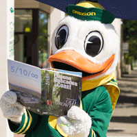 The Duck Reading the Visitor Guide