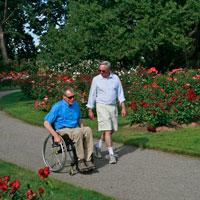 Owen Memorial Rose Garden Accessible Path, Eugene, Oregon, Willamette Valley, by Michael Kevin Daly