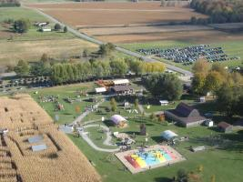 Sky view of Long Acre Farms