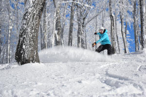 Snowboarder at Hidden Valley Resort in Laurel Highlands