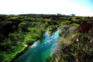 Lake Austin Aerial view