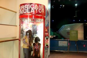 Hurricane machine at the Rochester Museum & Science Center lets you feel high speed winds