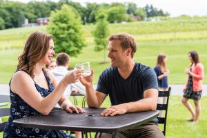 Couple at Clover Hill Winery