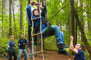 Spencer Butte Challenge Course Rope Ladder