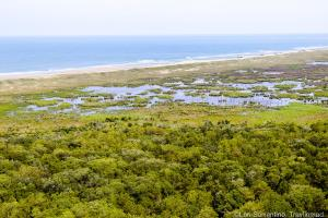 View from the top of Cape Hatteras Lighthouse, Cape Hatteras, North Carolina