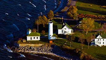 Sky View of Tibbitts Pointe Lighthouse - Cape Vincent
