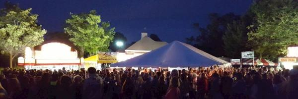 Gaspee Days Block Party at night
