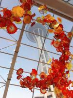Glasshouse exhibit - Chihuly Garden and Glass with Space Needle in Seattle