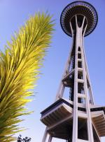 Garden exhibit - Chihuly Garden and Glass and Space Needle in Seattle day time
