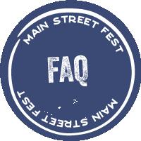 Main Street Fest side nav FAQ button