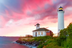 Tibbitts Point Lighthouse at Cape Vincent, photo courtesy of Scott Day and Cape Vincent Chamber of Commerce
