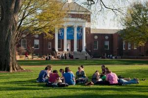 University of Delaware Campus with Students