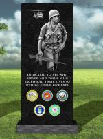 Rendering of Vietnam Veterans Memorial in Springfield, OR