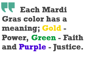 Mardi Gras color meanings