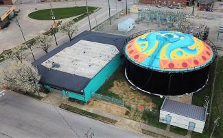 Jeffersonville Arts District Aerial 1
