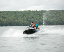 Jet Skiing on Lake Wallenpaupack in the Pocono Mountains