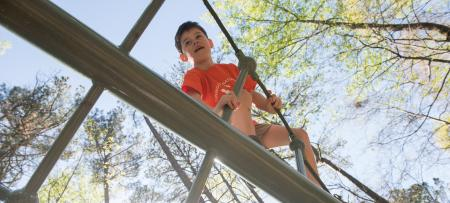 Boy Climbing Nature Center