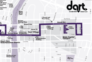 Dart D-Line Route Map