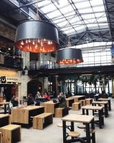 The newly renovated dining hall in The Forks Market