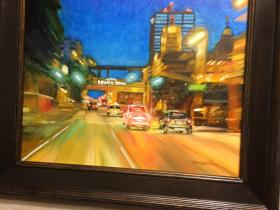"Oil Painting of ""Welcome to Downtown"""