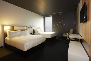 Spacious and comfortable room with two queen size beds